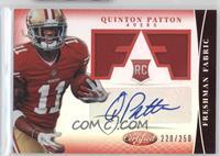 Freshman Fabric Signatures - Quinton Patton /250