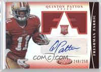 Freshman Fabric Signatures - Quinton Patton /250