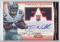 Freshman Fabric Signatures - Terrance Williams /250