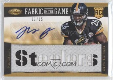 2013 Panini Certified Rookie Fabric of the Game Jersey Team Die-Cut Signatures Prime [Autographed] #20 - Le'Veon Bell /15