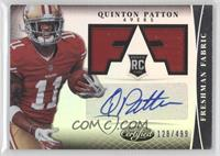 Freshman Fabric Signatures - Quinton Patton /499
