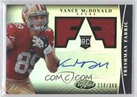 Freshman Fabric Signatures - Vance McDonald /399