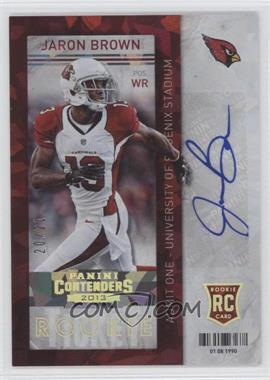2013 Panini Contenders Cracked Ice #194 - Jaron Brown /21