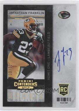 2013 Panini Contenders Cracked Ice #213 - Johnathan Franklin /21