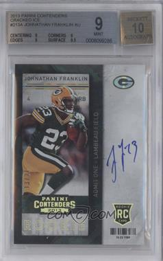 2013 Panini Contenders Cracked Ice #213 - Johnathan Franklin /21 [BGS 9]