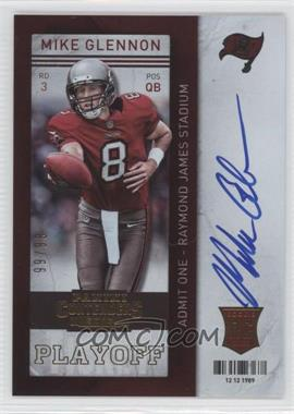 2013 Panini Contenders Short Print Rookies Playoff Ticket #228 - Mike Glennon /99