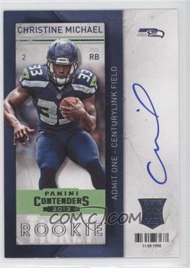2013 Panini Contenders Short Print Rookies #203 - Christine Michael (holding ball with one hand)