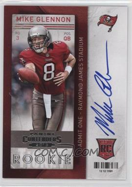 2013 Panini Contenders Short Print Rookies #228 - Mike Glennon (handing the ball off)