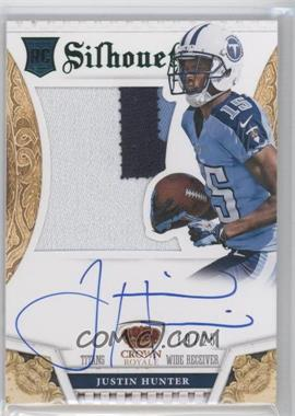 2013 Panini Crown Royale Rookie Silhouettes Green Autographs [Autographed] #216 - Justin Hunter /25
