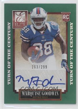2013 Panini Elite - [Base] - Turn of the Century Rookie Signatures [Autographed] #166 - Marquise Goodwin /299