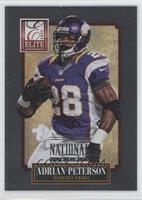 Adrian Peterson uncorrected error: no number, should be 57 /5