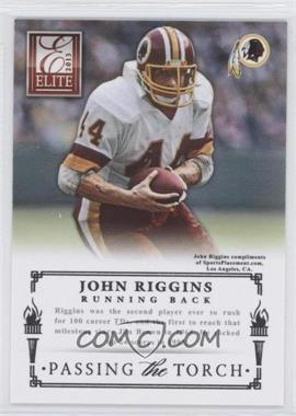 2013 Panini Elite Passing the Torch Silver #13 - Alfred Morris, John Riggins