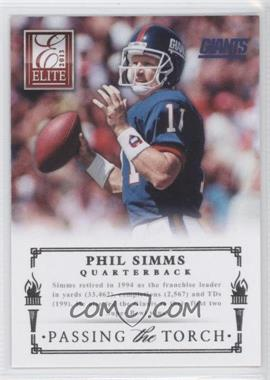 2013 Panini Elite Passing the Torch Silver #3 - Eli Manning, Phil Simms