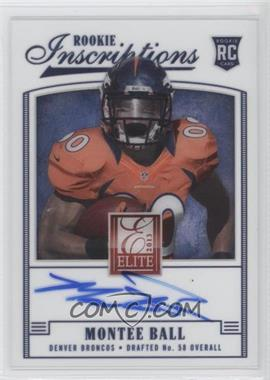 2013 Panini Elite Rookie Inscriptions Blue Ink #26 - Montee Ball