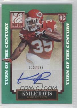 2013 Panini Elite Turn of the Century Rookie Signatures [Autographed] #118 - Knile Davis /199
