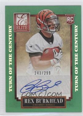 2013 Panini Elite Turn of the Century Rookie Signatures [Autographed] #177 - Rex Burkhead /299