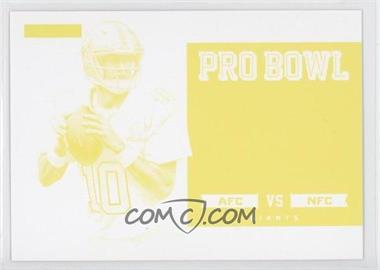 2013 Panini Father's Day Pro Bowl Materials Progressions Yellow #N/A - Eli Manning