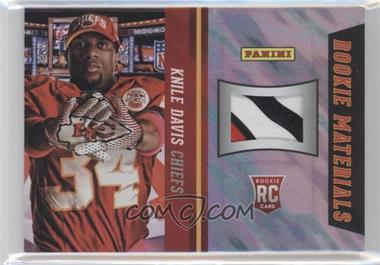 2013 Panini National Convention Rookie Materials Football Gloves Lava Flow #18 - Knile Davis