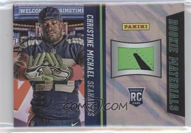 2013 Panini National Convention Rookie Materials Football Gloves Lava Flow #3 - Christine Michael