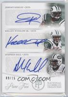 Kellen Winslow Jr., Stephen Hill, Jeremy Kerley /15