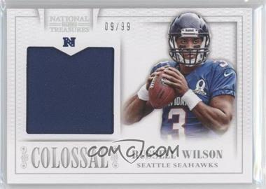 2013 Panini National Treasures Colossal Pro Bowl Materials #31 - Russell Wilson /99