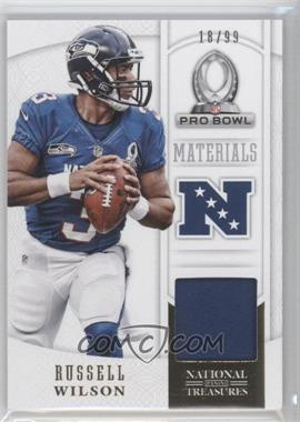 2013 Panini National Treasures Pro Bowl Materials #31 - Russell Wilson /99