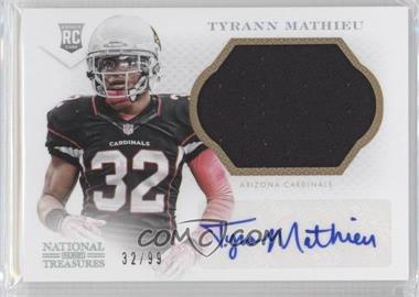 2013 Panini National Treasures Rookie Material Signatures Silver #336 - Tyrann Mathieu /99