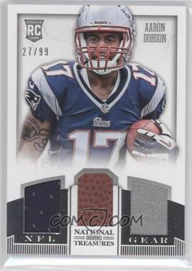 2013 Panini National Treasures Rookie NFL Gear Materials Trio #1 - Aaron Dobson /99