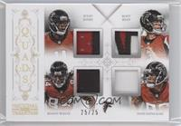 Julio Jones, Matt Ryan, Tony Gonzalez, Roddy White /25