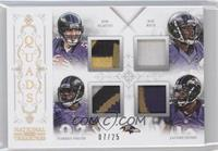 Ray Rice, Jacoby Jones, Joe Flacco, Torrey Smith /25