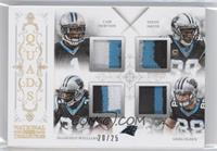 Cam Newton, DeAngelo Williams, Steve Smith, Greg Olsen /25