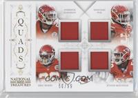 Justin Houston, Derrick Johnson, Dontari Poe, Eric Berry /99