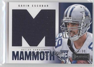2013 Panini Playbook - Rookie Mammoth Materials #10 - Gavin Escobar /99
