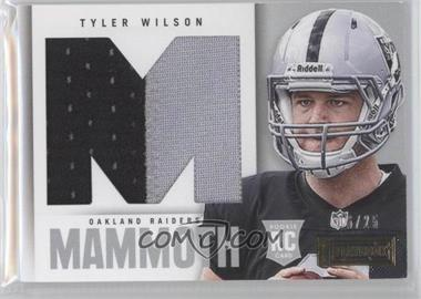 2013 Panini Playbook Rookie Mammoth Materials Prime #38 - Tyler Wilson /25