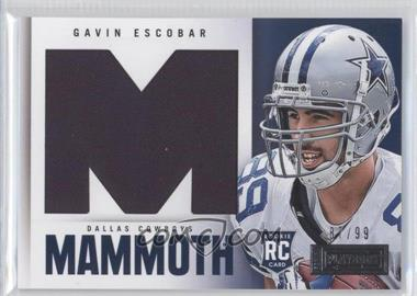 2013 Panini Playbook Rookie Mammoth Materials #10 - Gavin Escobar /99