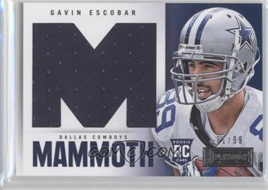 2013 Panini Playbook Rookie Mammoth Materials #10 - Gavin Escobar /99