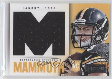 2013 Panini Playbook Rookie Mammoth Materials #20 - Landry Jones /99