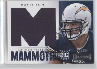2013 Panini Playbook Rookie Mammoth Materials #22 - Manti Te'o /99