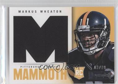 2013 Panini Playbook Rookie Mammoth Materials #24 - Markus Wheaton /99