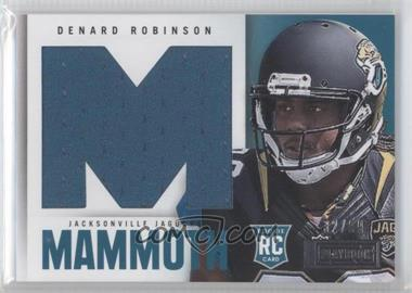 2013 Panini Playbook Rookie Mammoth Materials #6 - Denard Robinson /99