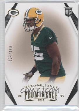 2013 Panini Prominence - [Base] - Gold #123 - Datone Jones /199