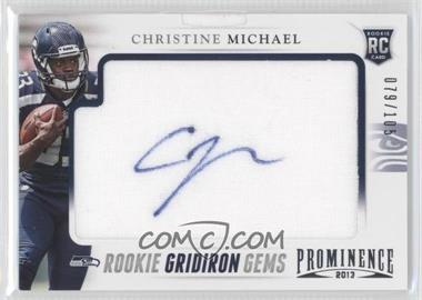 2013 Panini Prominence Rookie Gridiron Gems Signatures [Autographed] #114 - Christine Michael /105