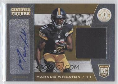 2013 Panini Totally Certified Certified Future Signature Materials #24 - Markus Wheaton /149