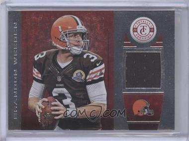 2013 Panini Totally Certified Totally Red Materials [Memorabilia] #90 - Brandon Weeden /299