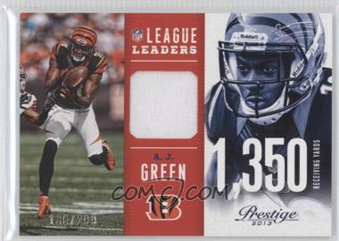 2013 Prestige - League Leaders Materials #14 - A.J. Green /299