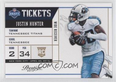 2013 Prestige - NFL Draft Tickets #12 - Justin Hunter