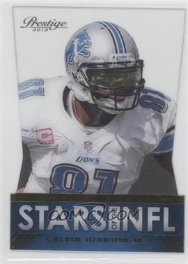 2013 Prestige - Stars of the NFL Acetate Die-Cut #13 - Calvin Johnson Jr.