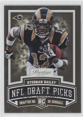 2013 Prestige NFL Draft Picks Gold #19 - Stedman Bailey