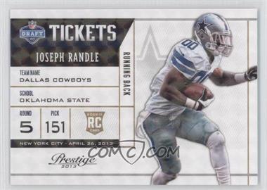 2013 Prestige NFL Draft Tickets Holokote #29 - Joseph Randle /100