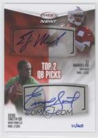 EJ Manuel, Geno Smith /40
